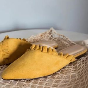 Shoes - Mustard Mules